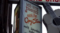 The Mid Nite Jamboree at Ernest Tubb Record Shop Nashville Stock Footage