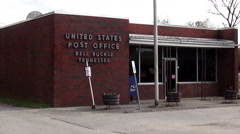 United States Post Office in Bell Buckle Tennessee Stock Footage