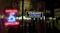 Home made Icecream shop on Broadway in Nashville Tennessee Stock Footage
