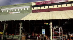 Beautiful country style shops in Bell Buckle Tennessee Stock Footage