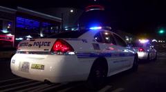 Nashville Police Car on Broadway Stock Footage