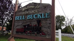 Beautiful historic town of Bell Buckle Tennessee Stock Footage