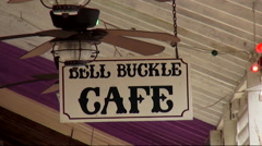 Beautiful Bell Buckle Cafe in a small town in Tennessee Stock Footage