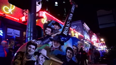 Famous Honky Tonk Guitar on Broadway in Nashville Tennessee Stock Footage