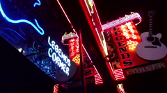 Famous Legends Corner Live Music Venue in Nashville Tennessee Stock Footage
