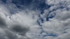 Time Lapse Clouds and Blue Sky Stock Footage