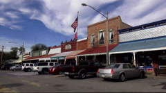 Small stores in the historic town of Bell Buckle Tennessee Stock Footage