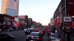 The Famous Boradway in Nashville with all the Live Music Venues Stock Footage