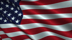 American Flag Flying in the Wind Looping 3D Animation Stock Footage