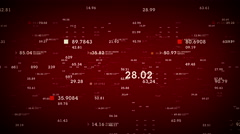 Data And Information Red Stock Footage