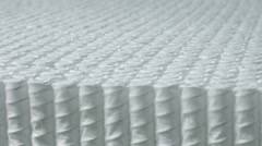 Closeup texture of spring units for making mattresses Stock Footage