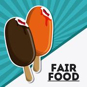 Ice cream fair food snack carnival icon Stock Illustration