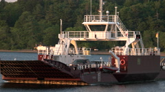 Car Ferry in New Brunswick Canada. Stock Footage