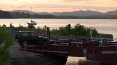 Car Ferry Loading in New Brunswick Canada. Stock Footage