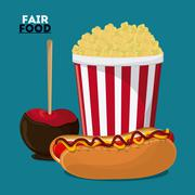 Fair food snack carnival icon Stock Illustration