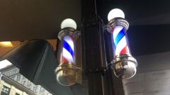 Barber shop pole Stock Footage