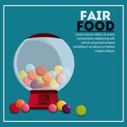 Candys sphere fair food snack carnival icon Stock Illustration