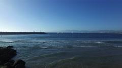 Sailboats in Marina del Rey, California Stock Footage
