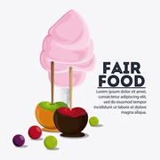 Fair food snack carnival icon Stock Illustration
