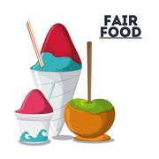 fair food snack carnival icon - stock illustration