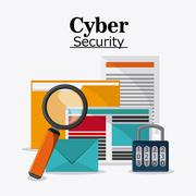Cyber and System Security icon - stock illustration