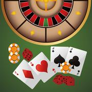 Cards chips dice casino icon Stock Illustration