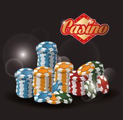 Chips casino las vegas game icon Stock Illustration