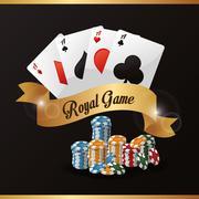 Cards chips casino icon Stock Illustration