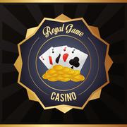 cards coins casino las vegas icon - stock illustration