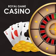 Cards roulette coins casino icon Stock Illustration