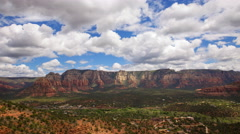 Time Lapse Overview from Airport Mesa Vortex in Sedona, Arizona -Tilt Up- Stock Footage