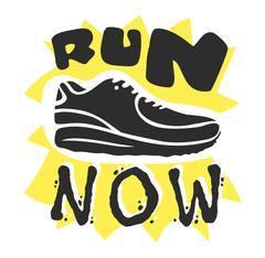 Run sport motivation vector - stock illustration