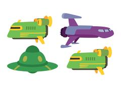 UFO spaceship vector isolated Stock Illustration