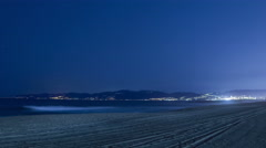 Starry Sky Beach 02 Time Lapse Stars California Coast 4K Stock Footage