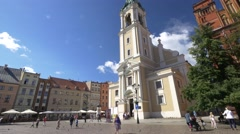 Holy Spirit Church - Old town Toruń Stock Footage
