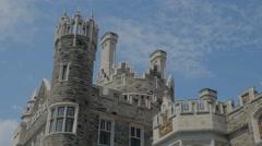 Toronto Edwardian Castle Casa Loma Terrace Exterior  Stock Footage