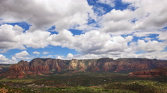 Time Lapse Overview from Airport Mesa Vortex in Sedona, Arizona -Pan Left- Stock Footage