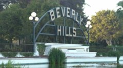 Beverly Hills sign Stock Footage