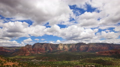 Time Lapse Overview from Airport Mesa Vortex in Sedona, Arizona -Zoom In- Stock Footage