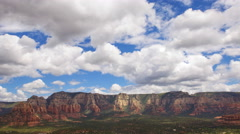 Time Lapse Overview from Airport Mesa Vortex in Sedona, Arizona -Zoom Out- Stock Footage