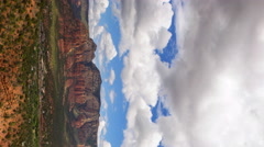 Time Lapse Overview from Airport Mesa Vortex in Sedona, Arizona -Pan/Vertical- Stock Footage