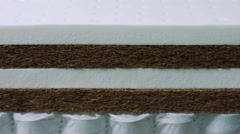 Closeup texture of memory foam for making mattresses Stock Footage