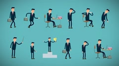 Businessman Animation Kit Stock After Effects