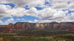 Time Lapse Overview from Airport Mesa Vortex in Sedona, Arizona -Long Shot- Stock Footage