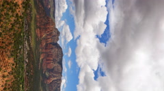 Time Lapse Overview from Airport Mesa Vortex in Sedona, Arizona -Vertical- Stock Footage