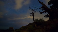 MoCo Tracking Astro Time Lapse of Cathedral Rock in Sedona, Arizona  Stock Footage