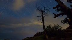 MoCo Tracking Astro Time Lapse of Cathedral Rock in Sedona, Arizona -Long Shot- Stock Footage