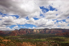 5K Time Lapse Overview from Airport Mesa Vortex in Sedona, Arizona Stock Footage
