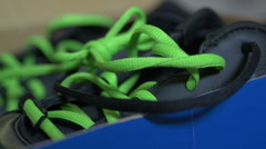Opening shoe box open Stock Footage