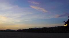 Motorbike sillhouette at sunset Stock Footage